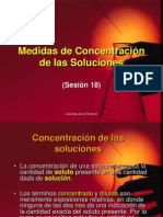 Concentracion de Las Soluciones.