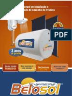 Manual de Instalação - Aquecedor Solar Belosol