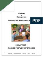 BSBMGT502B - Manage People Performance