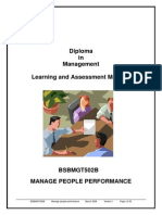 BSBMGT502B - Manage People Performance