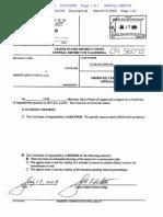 USDCDenialCertificateofAppealability.