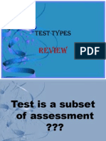 Testing and Test Types