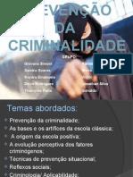 prevenção da criminalidade