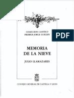 Llamazares, Julio -Memoria de La Nieve