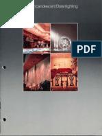 Halo Lighting Incandescent Downlighting Catalog 1985