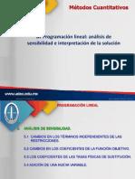 5. PL Análisis de sensibilidad e interpretación de la solución(1)