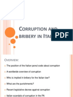 Corruption and Bribery in Italy