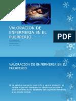 Valoracion de Enfermeria en El Puerperio