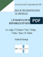 2-Desensibilización sistemática