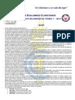 Datos Exalumnos Claretianos - Campeonato Relampago Bases Futbol 2013