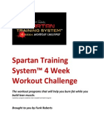 Funk Roberts Spartan Training System 4 Week Workout Challenge