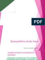 4.-Desequilibrio ácido-base