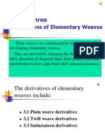 Derivatives of Elementary Weaves