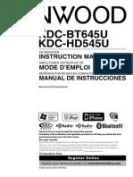 KDC-BT645U - Owners Manual