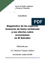 Informe_Fauna_Vertebrada Invasora El Salvador