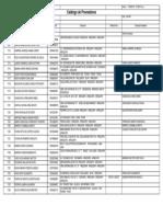 PLAN 13129 Listado de Proveedores 2012