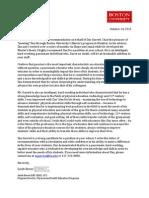 dax garrett letter of recommendation
