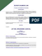 Ley Del Organismo Judicial, Drcreto 2-89