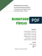 Magnitudes físicas - Trabajo