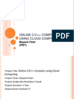 Online C/C++ Compiler Using Cloud Computing