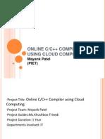 Online C/C++ Compiler Using Cloud Computing