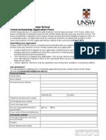 Travel Scholarship Application Form