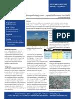 947932Comparison of Cover Crop Establishment Methods