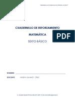 cuaderno de reforzamiento matematica 6°