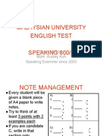 MUET-Notes for Speaking test