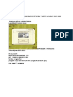 Program Kerja Laboratorium Ipa Tahun Pelajaran 2013 - 2014