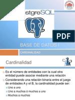 Base de Datos - Cardinalidad