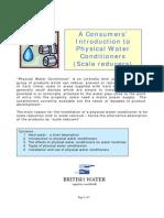 Ablandamiento. Guía para Acondicionamiento Agua. Consumers' Guide to PWC 040105