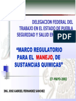 Marco Regulatorio Para El Manejo de Sust Quimicas