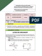 PRACTICA N° 3 LAS LEYES DE KIRCHHOFF