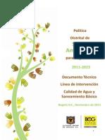 Calidad de Agua y Saneamiento Basico - 2011