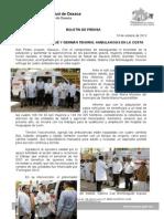 19/10/13 ENTREGAN GABINO CUÉ Y GERMÁN TENORIO AMBULANCIAS EN LA REGIÓN DE LA COSTA