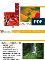 Powerpoint nr. 2 - Interacções seres vivos -Factores do Ambiente