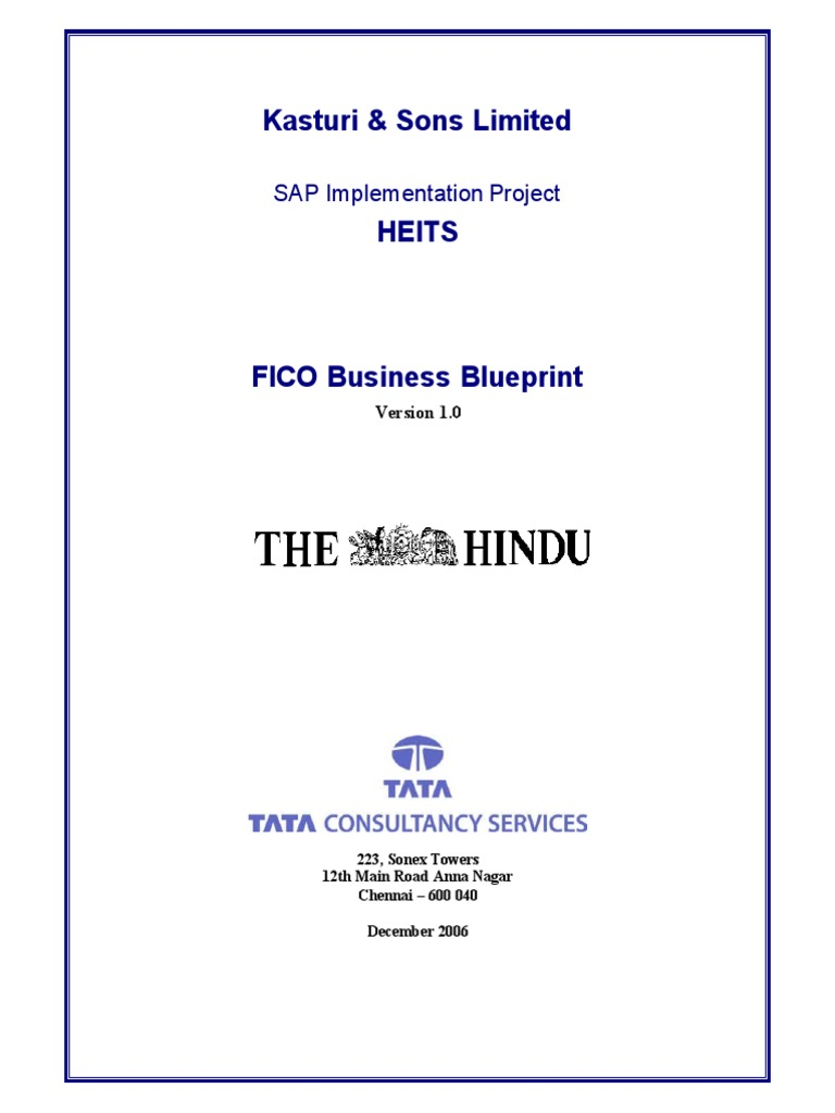 Fico tcs blueprint depreciation business process malvernweather Image collections