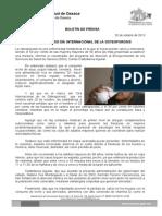 20/10/13 Germán Tenorio Vasconcelos CONMEMORA SSO DÍA INTERNACIONAL DE LA OSTEOPOROSIS