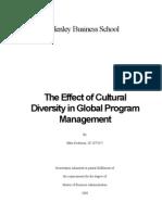 Effect of Cultural Diversity in Global Program Management