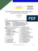 Mizo Academy of Sciences (MAS) Report