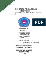 STUDI KASUS PENGAMBILAN KEPUTUSAN.doc