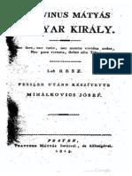 Fessler Ignác Aurél - Korvinus Mátyás király 1.rész 1813.