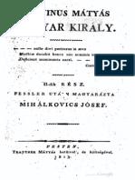 Fessler Ignác Aurél - Korvinus Mátyás király 2.rész 1813.