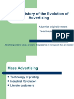 A Brief History of the Evolution of Advertising