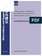 Fostering Farmer Cooperatives in Poor Western Communities of the People's Republic of China