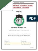 Case study State of punjab v. Major singh