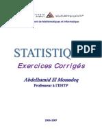 126985060 Exercices de Statistique 2006