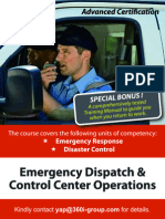 Emergency Dispatch & Control Center Operations