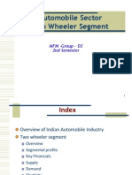 Automobile  Sector-Two wheeler segment